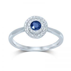 Pendientes Diamantes y Zafiros azules