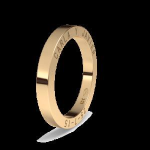 Alianza boda oro rojo almendrada Tarifa