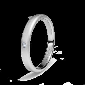Alianza boda platino media caña