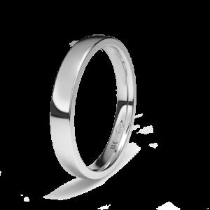 Alianza boda Platino oval Diamante