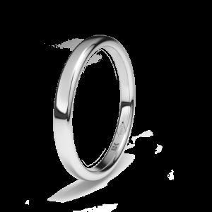 Alianza boda Platino ovalada