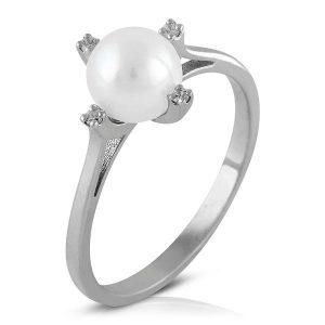 Pendientes Perla Cultivada 4 garras Diamantes
