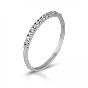 Anillo media alianza garras 7 Diamantes