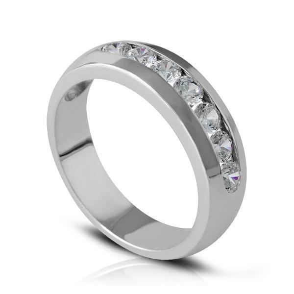 Anillo de compromiso 8 Diamantes media alianza