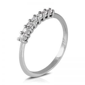 Anillo de compromiso 7 Diamantes carril