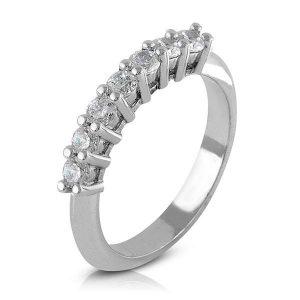 Anillo de compromiso 7 Diamantes garras