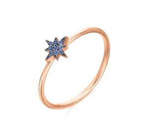 Gargantilla estrella polar en Oro rosa y Topacio