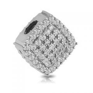Colgante rosetón de Oro blanco y diamantes
