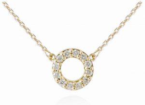 Gargantilla Círculos Diamantes en Oro amarillo