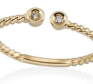 Anillo en Oro amarillo y Diamantes Tresillo